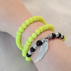 Neon Yellow Stretch Bracelet/Necklace